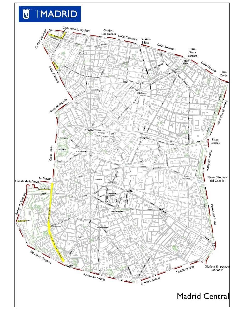 Tráfico en Madrid Central
